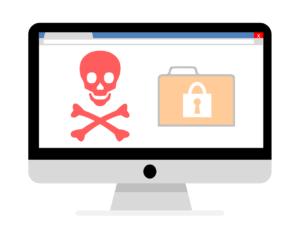 illustration of a hacked wordpress website